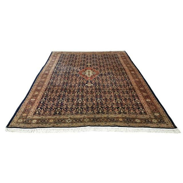 Textile Early 20th Century Antique Persian Malayer Handmade Rug - 7′3″ × 10′6″ - Size Cat. 6x9 8x10 For Sale - Image 7 of 7