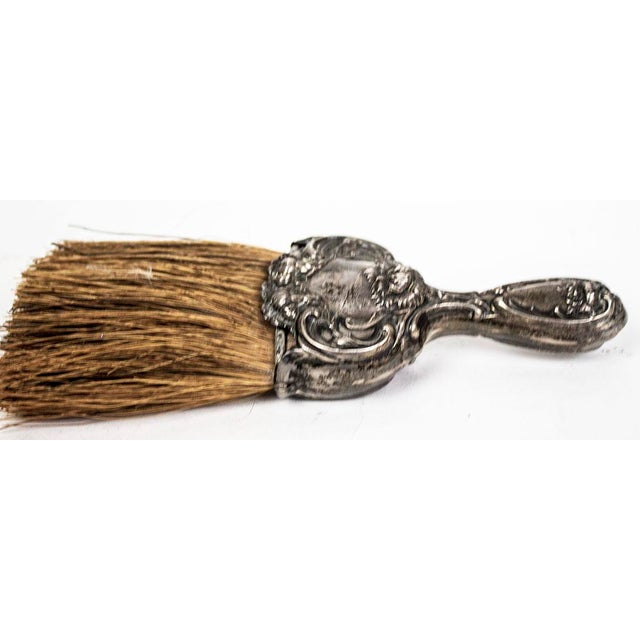 Art Nouveau Sterling Silver Whisk Table Crumb Brush For Sale - Image 4 of 6