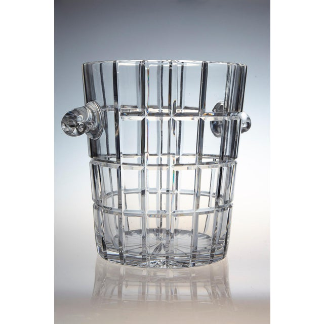 Mid-Century Modern French Cut Crystal Wine Cooler or Champagne Ice Bucket With Handles, Circa 1960s For Sale - Image 3 of 9