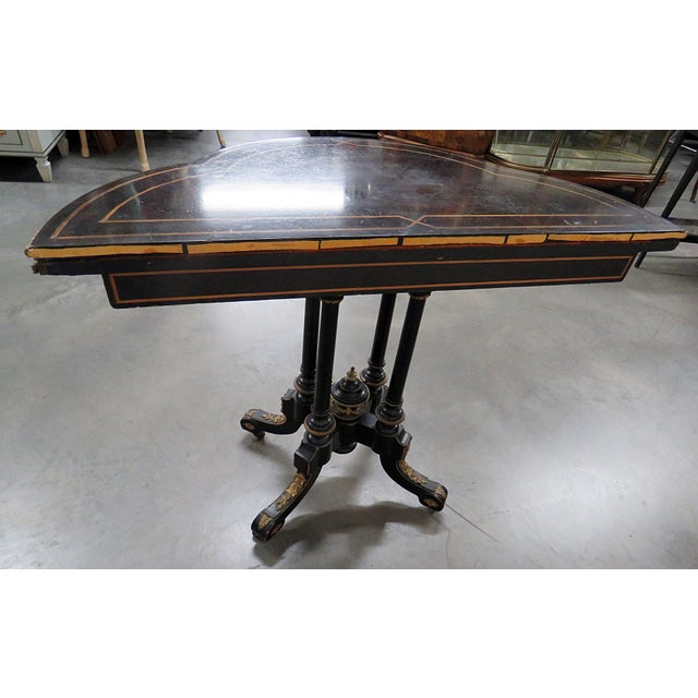 Louis Philippe Flip Top Card Table For Sale In Philadelphia - Image 6 of 10