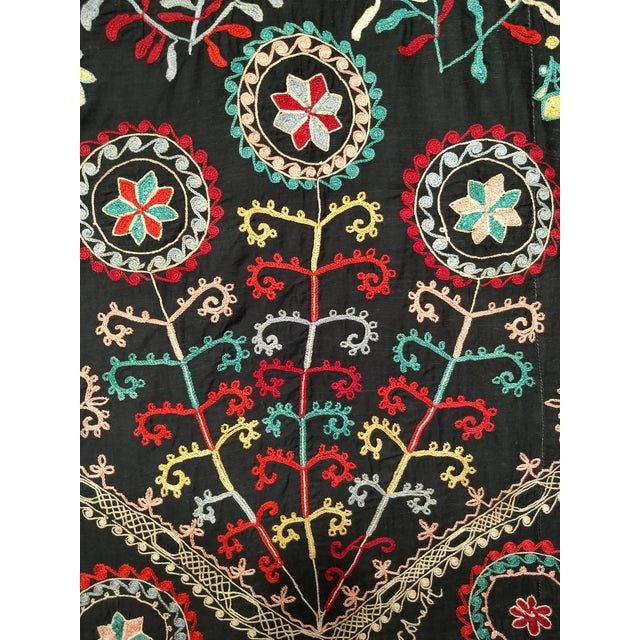 "Late 1800s Hand-Stitched Suzani- 3' X 5' 3"" For Sale - Image 10 of 13"