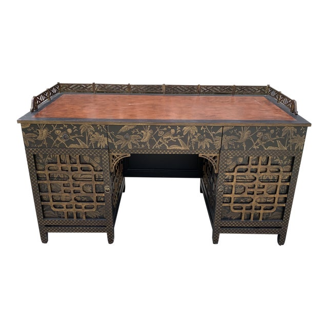 Drexel Heritage Mandalay Chinoiserie Desk For Sale