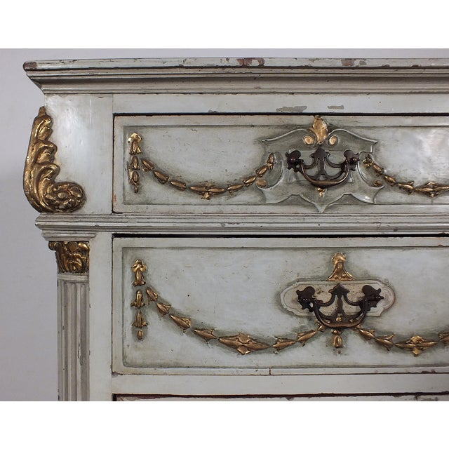 19th C. French Painted Chest of Drawers - Image 4 of 10
