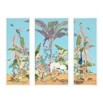 Palm Beach Paradise by Allison Cosmos, Set of 3, in White Framed Paper, Large Art Print