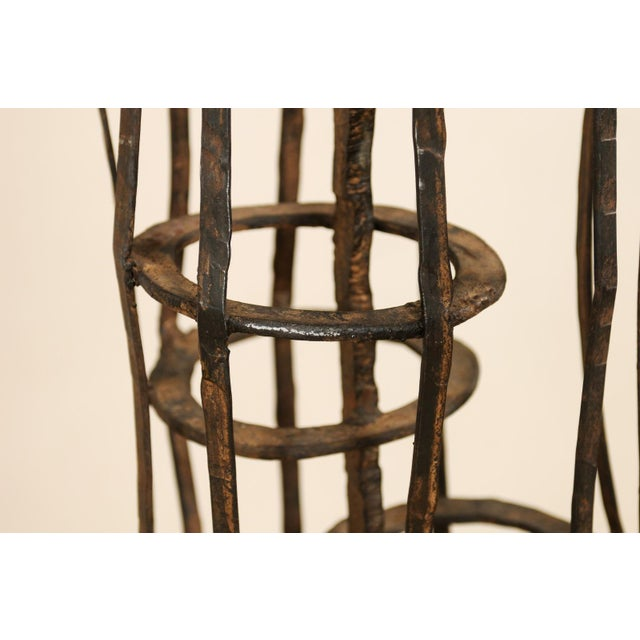 Tall French Sculptural Iron Abstract Art Piece, Circa 1930s-1940s For Sale - Image 9 of 12