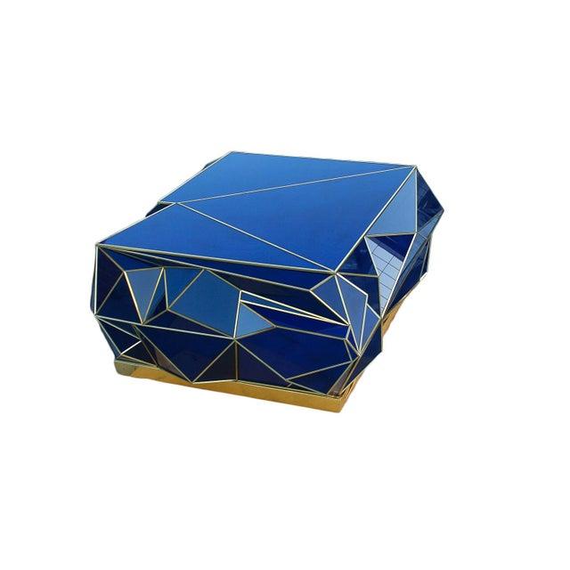 Metal Ploytope Coffee Table in Cobalt by MarGian Studio For Sale - Image 7 of 10