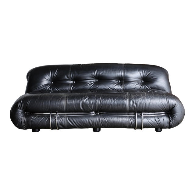 Soriana Settee by Afra & Tobia Scarpa for Cassina For Sale