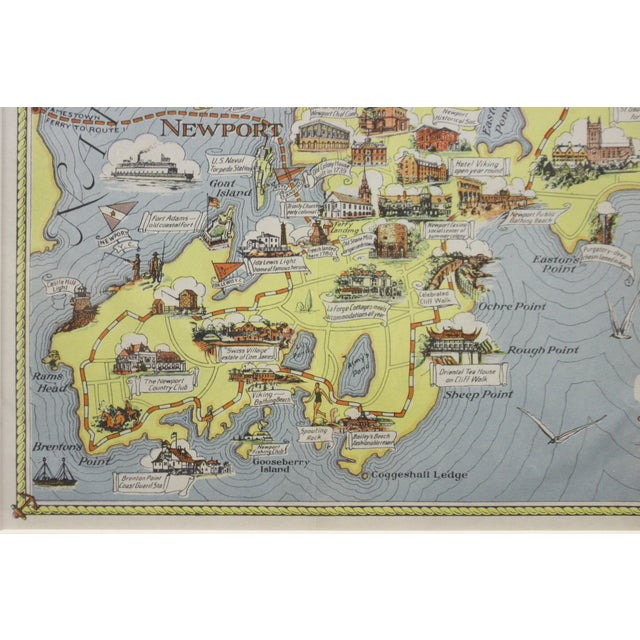 Traditional Rhode Island Map, 1933 For Sale - Image 3 of 7