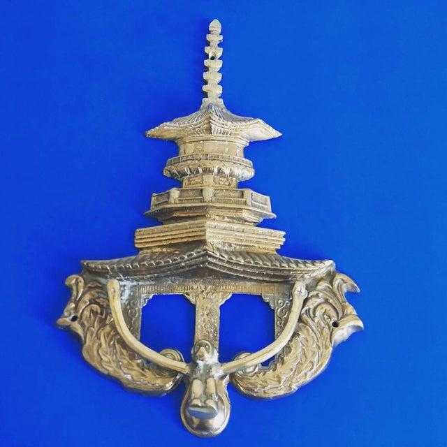 Oversize Pagoda & Monkey Door Knocker For Sale In Austin - Image 6 of 9