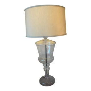 Contemporary Clear Ginger Jar Lamp For Sale