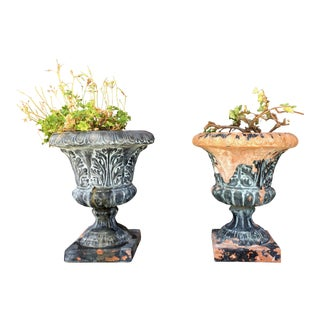 Vintage Terracota Planters - A Pair For Sale