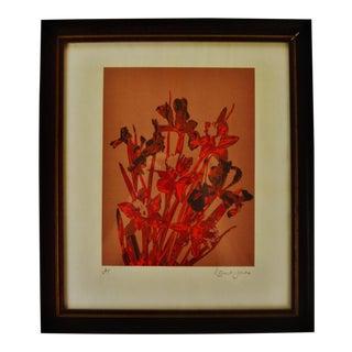 Vintage Framed Robert Jones Floral Print - Artist Proof For Sale