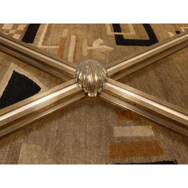 LaBarge Hollywood Regency Brass & Steel Coffee Table For Sale - Image 10 of 13