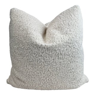 """Sherpa in Off White 22"""" Pillows-A Pair For Sale"""