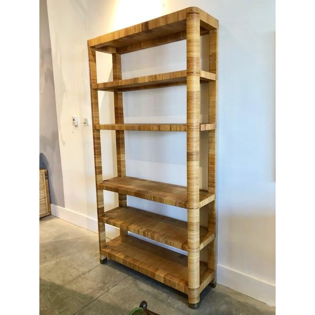1980s Boho Chic Bielecky Brothers Woven Bookshelf For Sale In Miami - Image 6 of 11