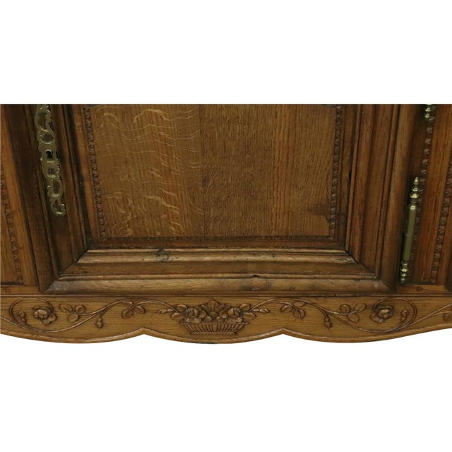 Sideboard Normandy Antique French 1890 Carved For Sale - Image 6 of 11