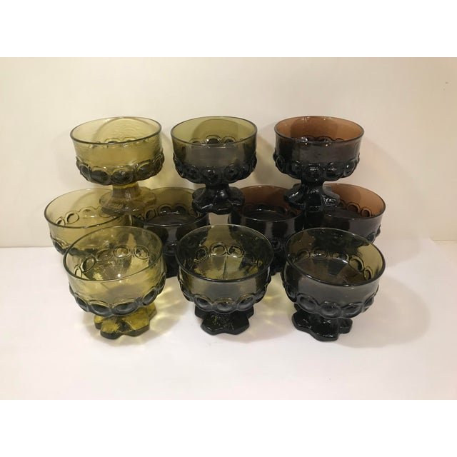 Set of 9 Tiffan Franciscan Madeira multi color heavy glass dessert cups. Rare find. Perfect for entertaining. Same day...