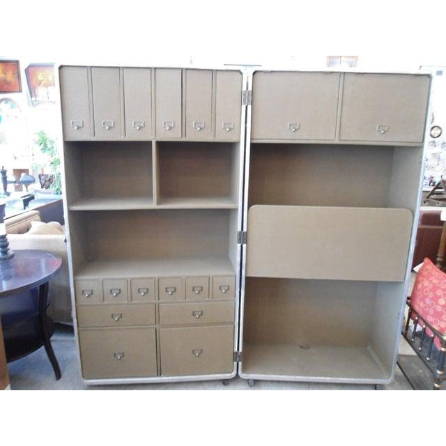 Restoration Hardware Steamer Trunk Secretary For Sale - Image 5 of 11