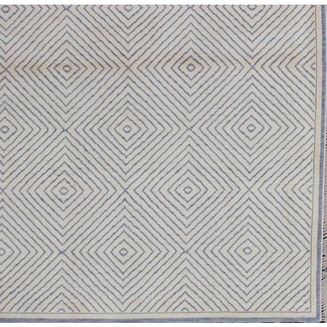 Soumak Design Contemporary Hand Woven Wool Rug - 6' X 9' - Image 3 of 5