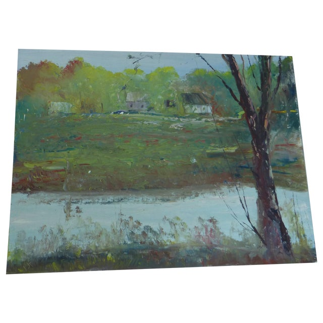 H.l. Musgrave Modernist Landscape Oil Painting - Image 1 of 6
