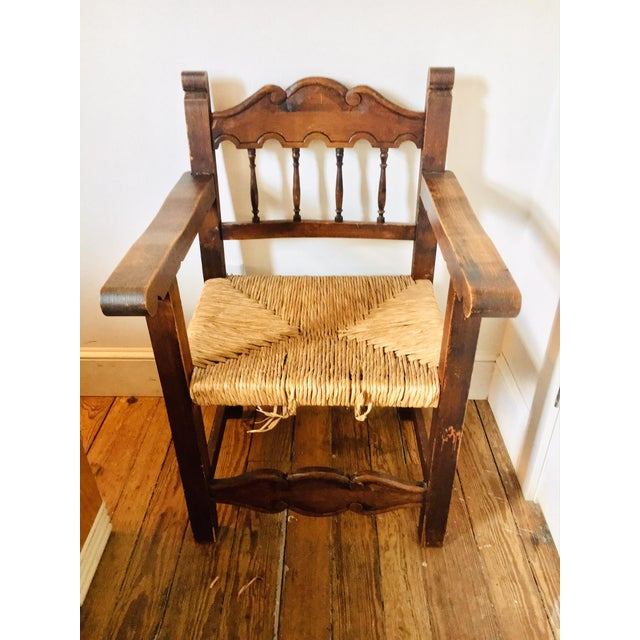 Early 20th Century Early 20th Century Antique Mexican Frailero Chair For Sale - Image 5 of 5