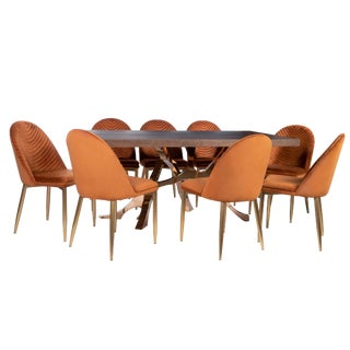 Contemporary Branch DIning Set - 9 Pieces For Sale