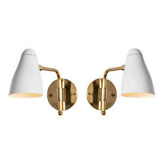 1950s Giuseppe Ostuni Articulating Arm Sconces for O-Luce - a Pair For Sale