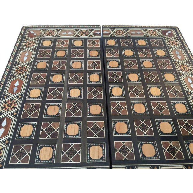 Mid 20th Century Syrian Inlaid Mosaic Backgammon and Chess Game Box For Sale - Image 5 of 10