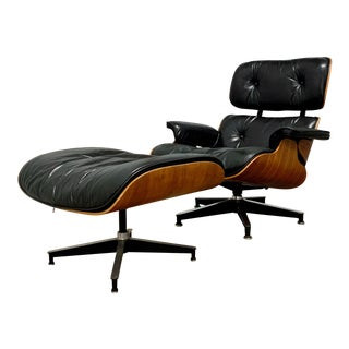 Herman Miller Eames Lounge Chair & Ottoman 670/671 in Rosewood For Sale