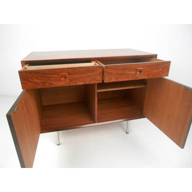 Danish Modern Rosewood Cabinets - a Pair For Sale - Image 4 of 10