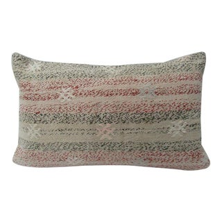 Vintage Turkish Decorative Kilim Pillow Cover - 12ʺW × 20ʺH For Sale