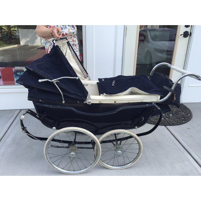 Antique Silver Cross Baby Coach - Image 2 of 5