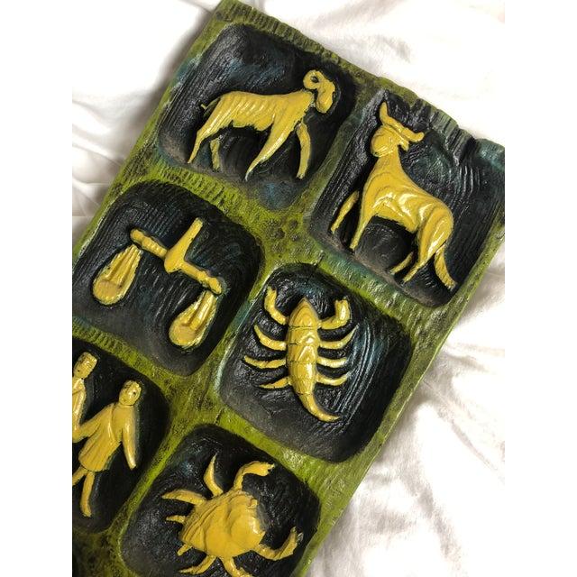 Mid-Century Zodiac Ceramic Wall Art For Sale - Image 4 of 9