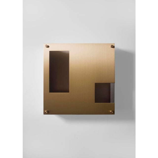 Contemporary Modern Contemporary 001 Sconce in Brass by Orphan Work For Sale - Image 3 of 5