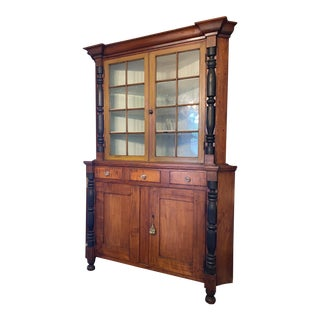 Antique 19th C. Corner Cupboard Display Cabinet For Sale