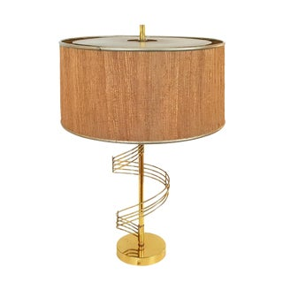 Mid-Century Modern Sculptural Brass Lamp For Sale