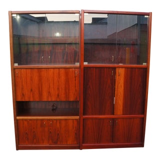 Maurice Villency Danish Modern Rosewood Dry Bar and Media Cabinet For Sale