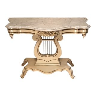 French Style John Widdicomb Harp Console Table For Sale