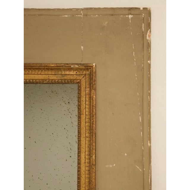 Circa 1880 French Painted Trumeau Mirror For Sale - Image 4 of 12