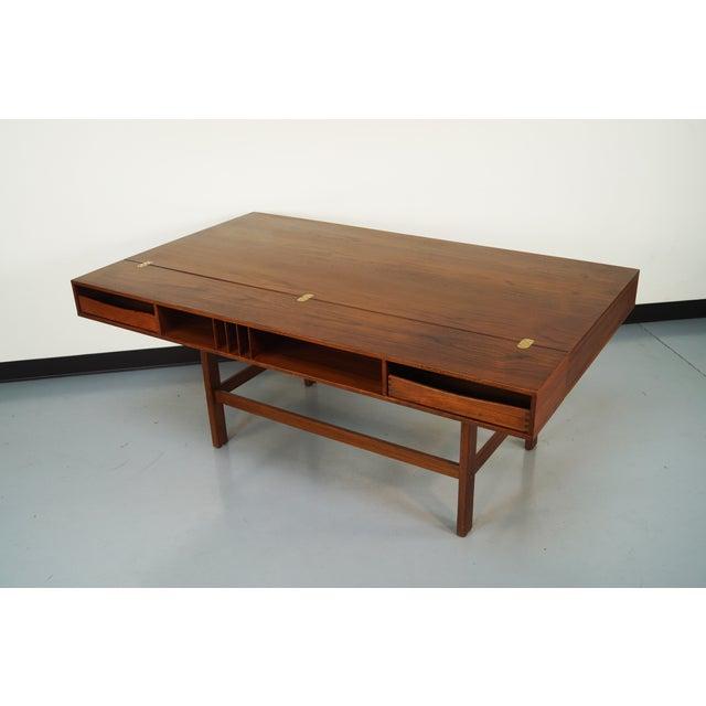 Jens Quistgaard Teak Flip -Top Desk - Image 5 of 7