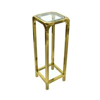 Vintage Modern Brass Pedestal Sculpture or Plant Stand For Sale