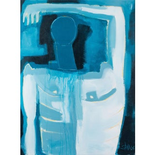 Late 20th Century Abstract Large Scale Male Nude by Shawn Savage For Sale
