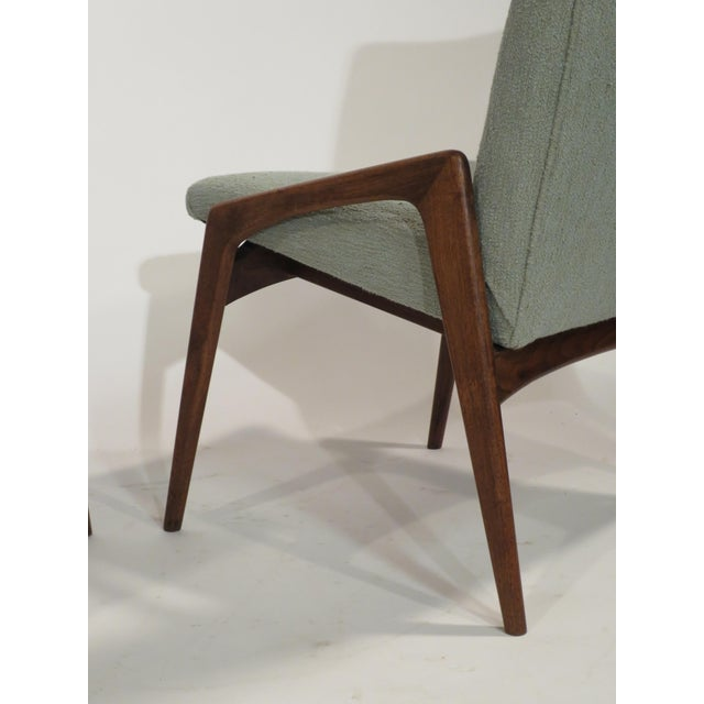 Midcentury Modern Walnut Dining Chairs - Set of 4 - Image 8 of 10