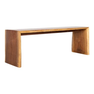 "Contemporary ""It"" Walnut Bench For Sale"