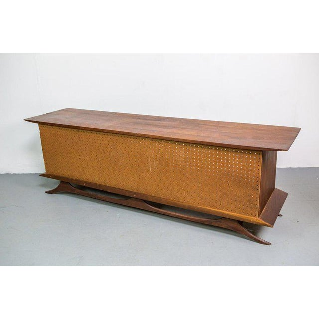 Sculpted Studio Cabinet or Credenza in Walnut For Sale - Image 4 of 7