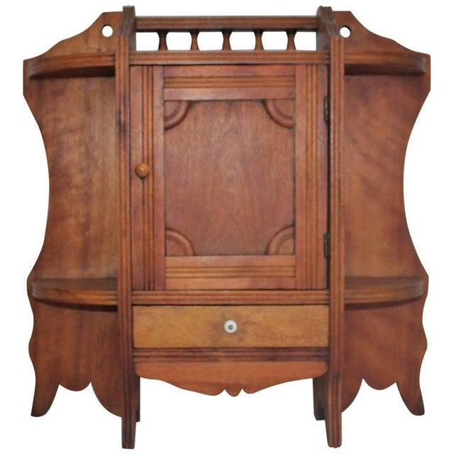 19th Century Pine Hanging Medicine Cabinet With One Drawer For Sale - Image 10 of 10