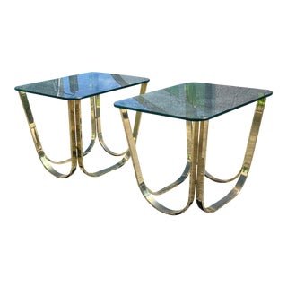 Brass Roger Sprunger Vintage End Tables - a Pair For Sale