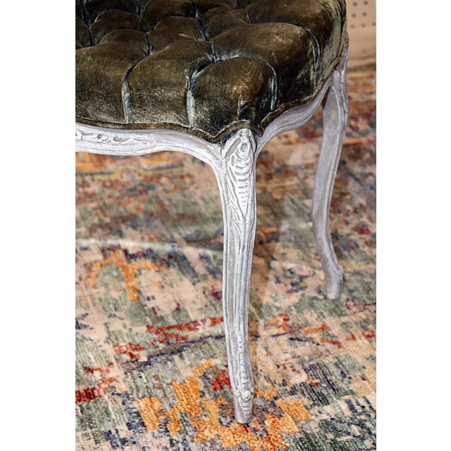 Vintage Louis XV Style Stools - a Pair For Sale - Image 9 of 11