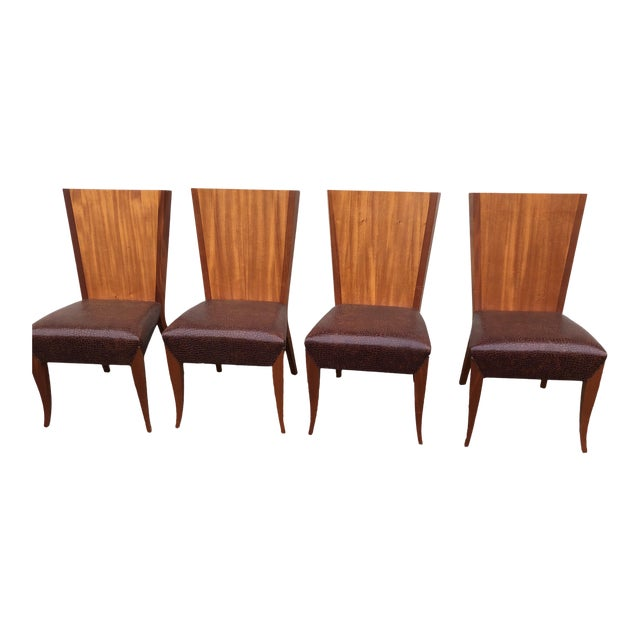 Modern Dakota Jackson Aldabhra Side Chairs- Set of 4 For Sale