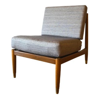 Folke Ohlsson for Dux Newly Upholstered Danish Slipper Chair MCM For Sale